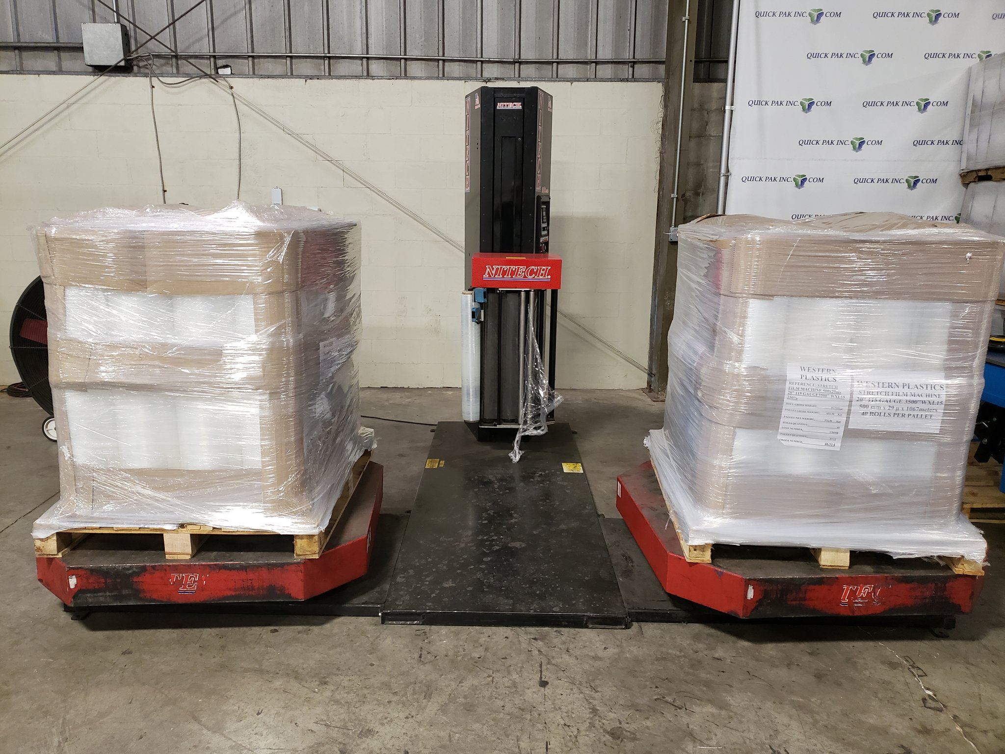 Nitech 20/20 High Profile Dual Turntable Pallet Wrapper.
