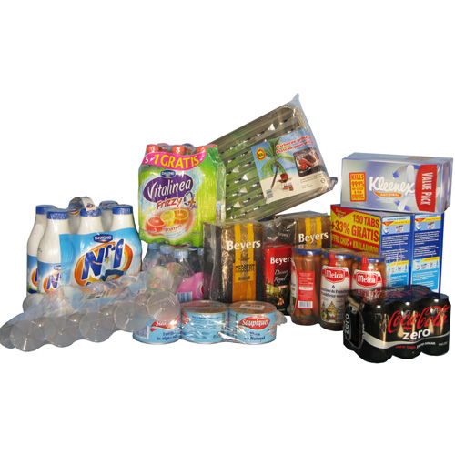 image of shrink wrapped retail products