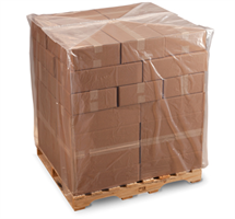 "Picture of 51"" x 49"" x 73"" x 1.5mil Clear Low Density Polyethylene Pallet Cover for Pallet Size 48 X 48 X 48"