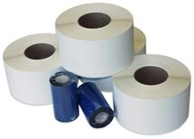 "Picture of 4"" x 4"" White Thermal Transfer Label"
