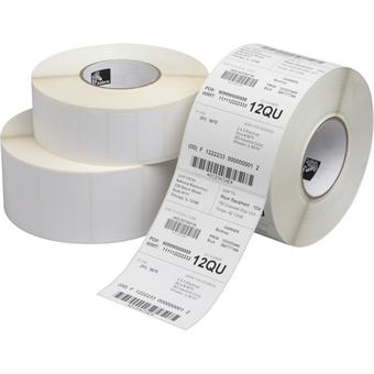 "Picture of 4"" x 4"" White Direct Thermal Label"
