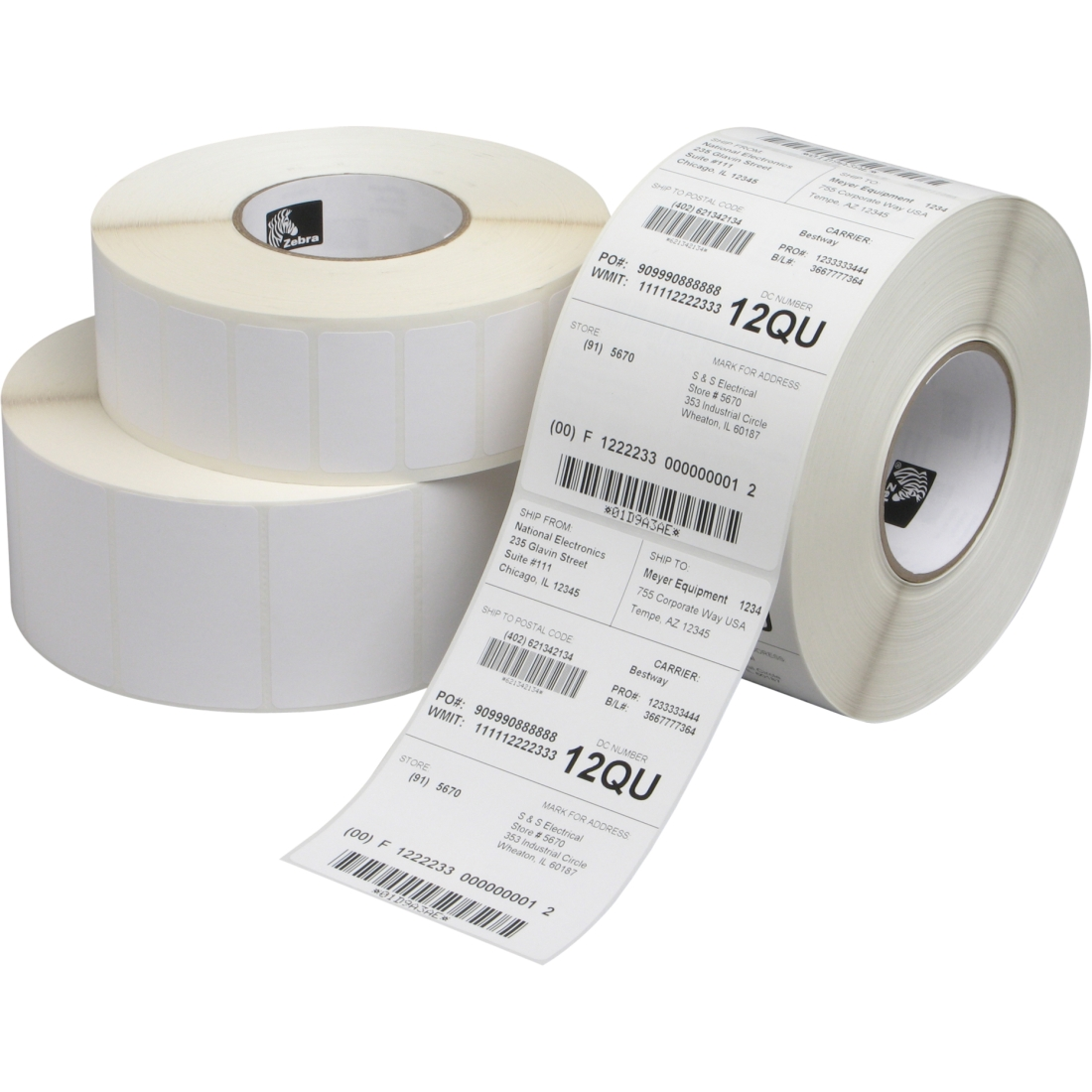 4 X 8 White Direct Thermal Label Quick Pak Inc