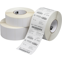 "Picture of 4"" x 8"" White Direct Thermal Label"