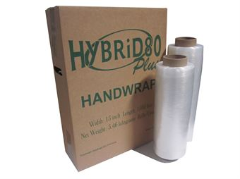 "Picture of 16"" x 12mu x 1500' HYBRiD80 Cast Hand Wrap"