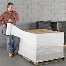 "Picture of 18"" x 80ga x 1500' White Opaque Hand Wrap"