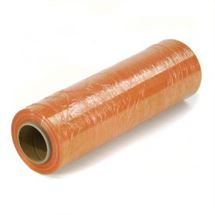 "Picture of 18"" x 80ga x 1500' on 3"" Cores ORANGE Stretch Film"