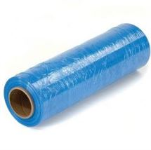 "Picture of 18"" x 64ga x 1500' on 3"" Cores BLUE Stretch Film"