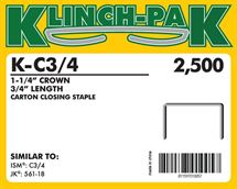 "Picture of 3/4"" C Style Klinch-Pak Stick Staples"