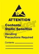 "Picture of Anti Static Label  1"" x 1-1/2""  DL9110 A"
