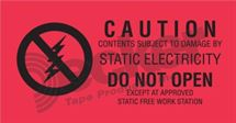 "Picture of Anti Static Label  1-1/2"" x 3""  DL9150 B"