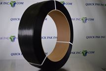 "Picture of 1/2"" x 300 Lbs x 9000' Black Poly Strapping"