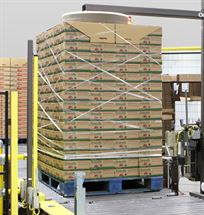 Picture of Roping Stretch Film to Wrap a Heavy Pallet