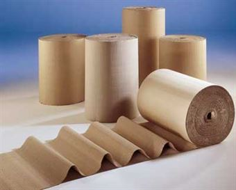 "Picture of 48"" x 250' Singleface B Flute Corrugated Roll"