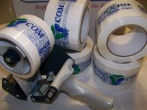 "Picture of 3"" x 2.5 mil x 110YD Logo Tape"