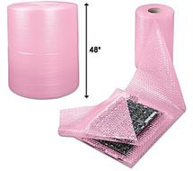 "Picture of 48"" x 3/16"" x 500' Anti Static Bubble Wrap (Slit 12"" / Perf 12"")"
